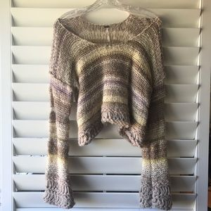 Free People knit cropped thick sweater